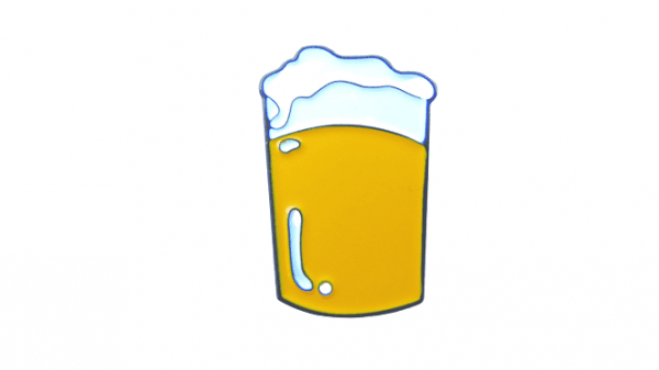 pin de pinta de cerveza rubia